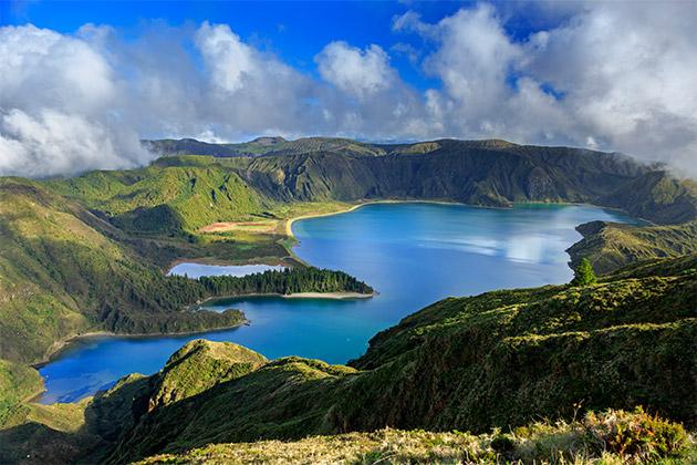 Vista da Lagoa do Fogo, Açores